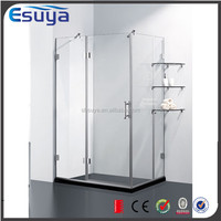 Hot sale China supplier swing tempered glass standard size mobile shower stall