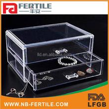 423157 lowest price hight quality china manufacture acrylic 2 drawer storage organizer