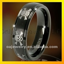 comfort fit nickle free best gift skull tungsten rings with prompt dielivery paypal accepeted
