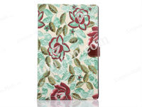 Girl Floral Flip Folio Stand Pink Plastic+PU Leather Tablet Cover Case For iPad Air 2/Ipad 6