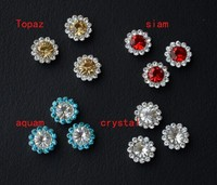 Wholesale crystal rhinestone button sew on claw setting 200pcs/bag for garment diy accessories