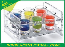 2015 acrylic tea cup and saucer rack, acrylic wine racks, organic glass juice stand