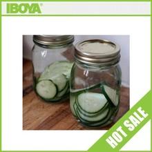 Personalised glass jar 16 oz round