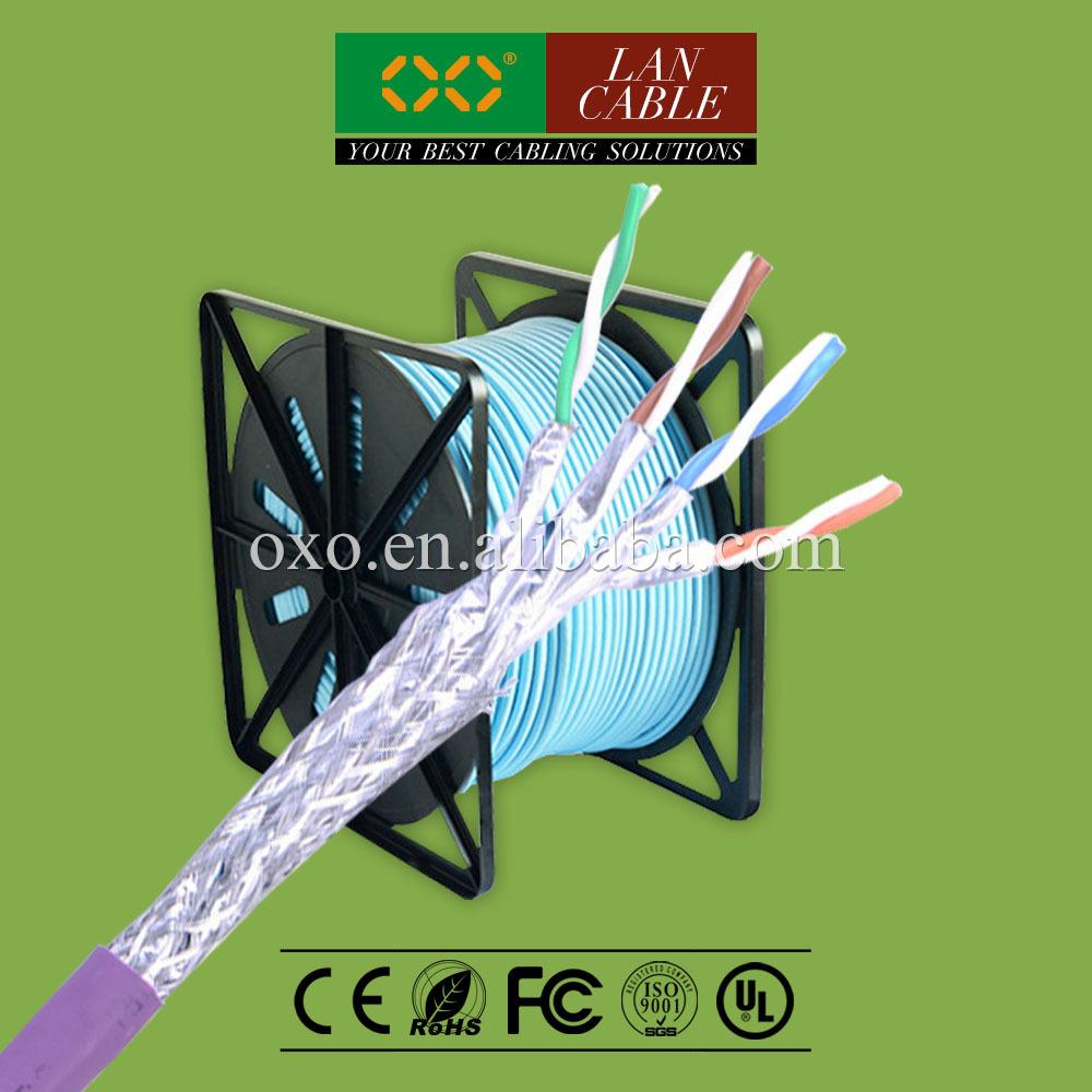 iran sıcak satış 305m 1000ft LSZH LSOH ceket 4 çift katı saf bakır cat 7 sftp net bağlantı kablosu