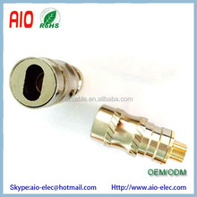 Gold Brass RCA Plug Solder Audio Video Adapter Hourglass Connector for doubling cable