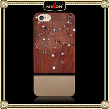 2015 Hot New fashion crystal cell phone case wholesale, bamboo phone case, for i phone case