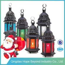 2015 New Candle Decoration Wrought Iron Candle Lantern Moroccan Candle Lantern
