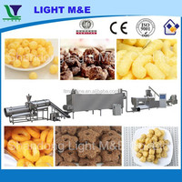 CE Crispy Stainless Steel Double Screw Corn Flour Snack Extruder Machine