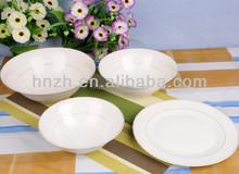 bulk white ceramic bisque soup dinner plates set