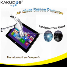 Free Sample Screen Protector Glass for microsoft surface pro 3 anti-impact ultra clear