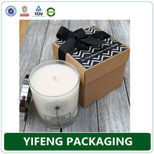 Custom printed logo brand information paper cardboard candle box wholesale paper packaging box gift box