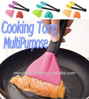 Plastic tongs for children easy to grip fun cooking with colorful tips