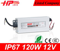 Guangzhou factory provide waterproof led driver ip67 single output constant voltage 120w 12v 10 amp power supply