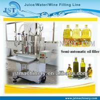 Semi-automatic sunflower oil bottling line