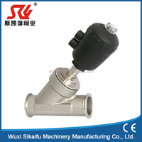 normally open pneumatic angle seat valve