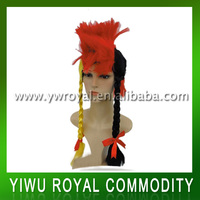 2014 World Cup German Synthetic Wigs Crazy Fan Hair