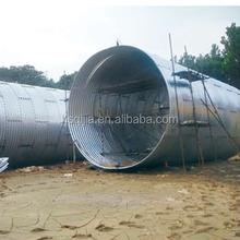 epoxy coating corrugated steel pipe, galvanized large diameter corrugated steel culvert pipe