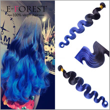 Hot Sell 7A Brazilian Virgin Hair Body Wave 12-26inch Blue Hair Weave Color Brazilian Virgin Remy Hair Weft