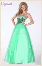 lime strapless sweetheart full length tulle ballgown prom dresses made in china with delicately adorned sparkling embellishments