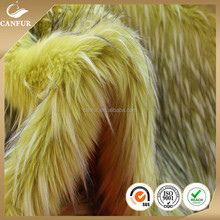 100% acrylic long pile faux fur cheap
