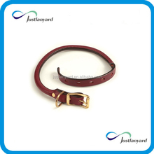 High quality cheap price custom rolled leather dog collar
