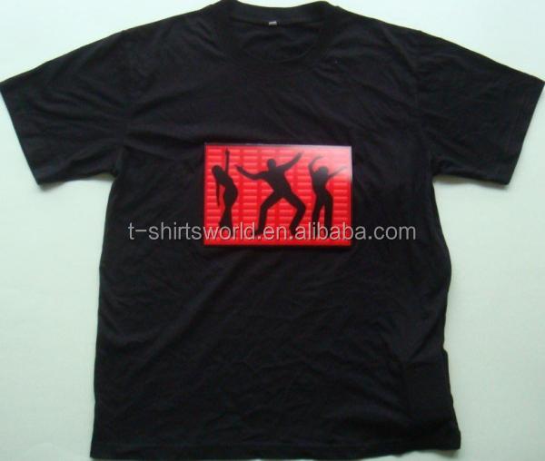 custom 100% cotton 140 grams tshirt,fashion desgin led tshirt
