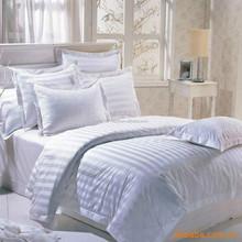 luxury white color Satin Stripe 100% long Mulberry silk quilt/comforter sets (Fill 2 kg)