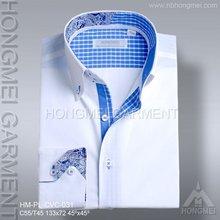 2015 ningbo latest design cotton Fashion dress Shirt for men
