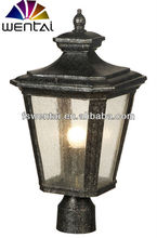 Antique outdoor lighting for house use solar led pillar light(DH-3163)