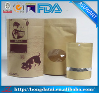 factory custom aluminum foil lined laminated paper bag kraft paper bag with clear window