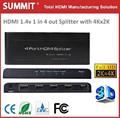 1 entrada 4 salidas de audio splitter hdmi1.4v con 3d 4kx2k