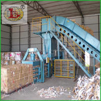 Horizontal Cardboard Baler/square baler with ISO CERTIFICATION