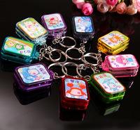 Lovely acrylic constellation key chain crystal music box