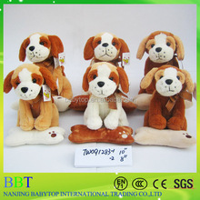 2015 hot sale cute dog toys, soft toys wholesale, cute sorted plush dogs