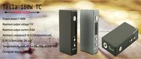 Wood box mod Tesla 160W TC dry herb vaporizer Temperature Control VV / VW e cigarette kanger subtank v2,aerotank mini