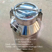 Stainless Steel Wine Can , Milk Bucket 40L Capacity