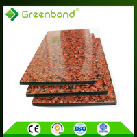 Greenbond marble pattern aluminum composite panel with standard size of 4mm in jiangsu