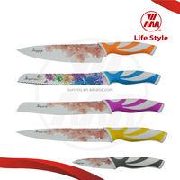Creative Desigh kitchen coloured knives 5pcs knife set