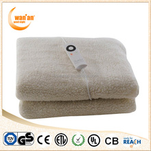 Super Soft Micro Fleece Wool Fitted LED Controller Electric Heated Blanket with warm and safe