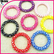 Plastic hair band pretty stars printing hair band mobile phone rope hair donut2015