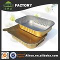 Ovenable descartável de alumínio assar panelas para comida quente