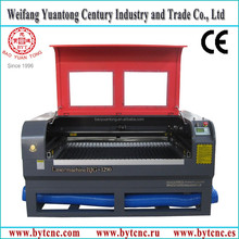 BJG-1290 laser cutters cutting wood, clothes, leather/laser engraver