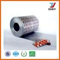 rollo de tipo medio y duro temperamento farmacéutico de impresión ptp papel de aluminio para blister packging