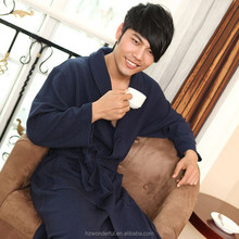navy blue shawl collar modal bathrobe good choice for men hotel night gown