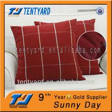 waterproof square cheap plain blue tartan printing outdoor chair cushion pillow