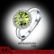 Trendy Shinning Cubic Zircon High End Fashion Jewelry in Silver