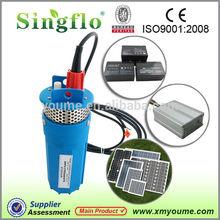 "Singflo venta caliente 70 metros de elevación 360 lph para 4"" bien 12v& 24v dc bomba solar/bomba de agua solar"