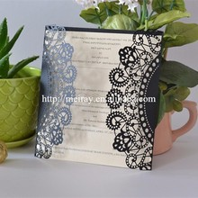 Unique wedding invitation cards, black and white decor, laser cut party supplies