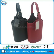 Eco-friendly PU leather wine holder manufacturer