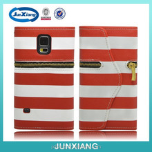 bulk buy China handmade leather flip wallet case for Samsung S5 i9600